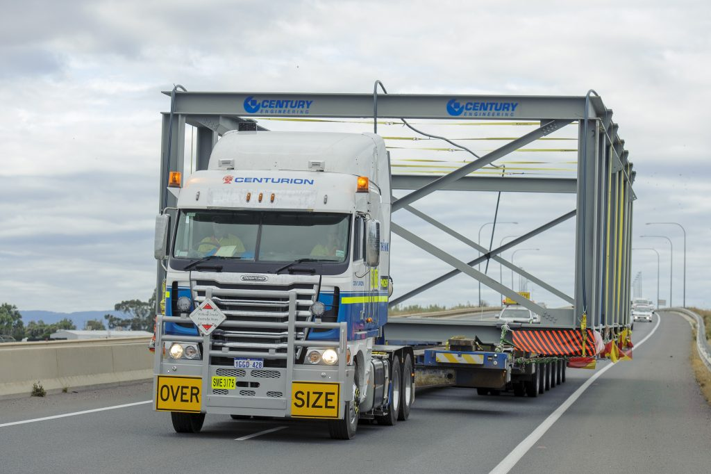 Centurion Adelaide heavy haulage team with oversize load in South Australia