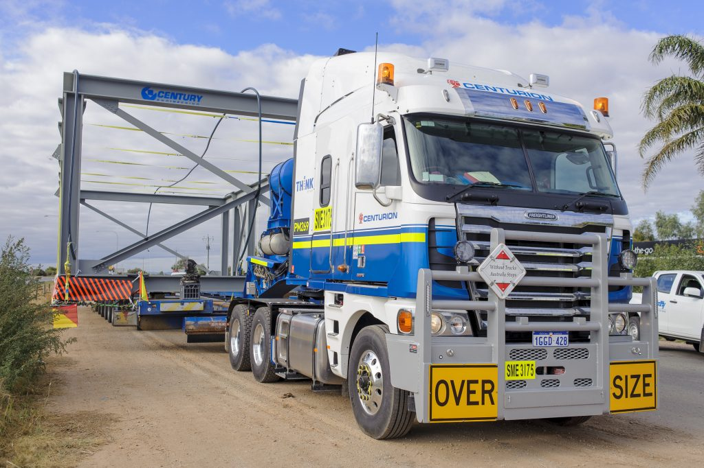 Centurion heavy haulage team in adelaide with oversize load