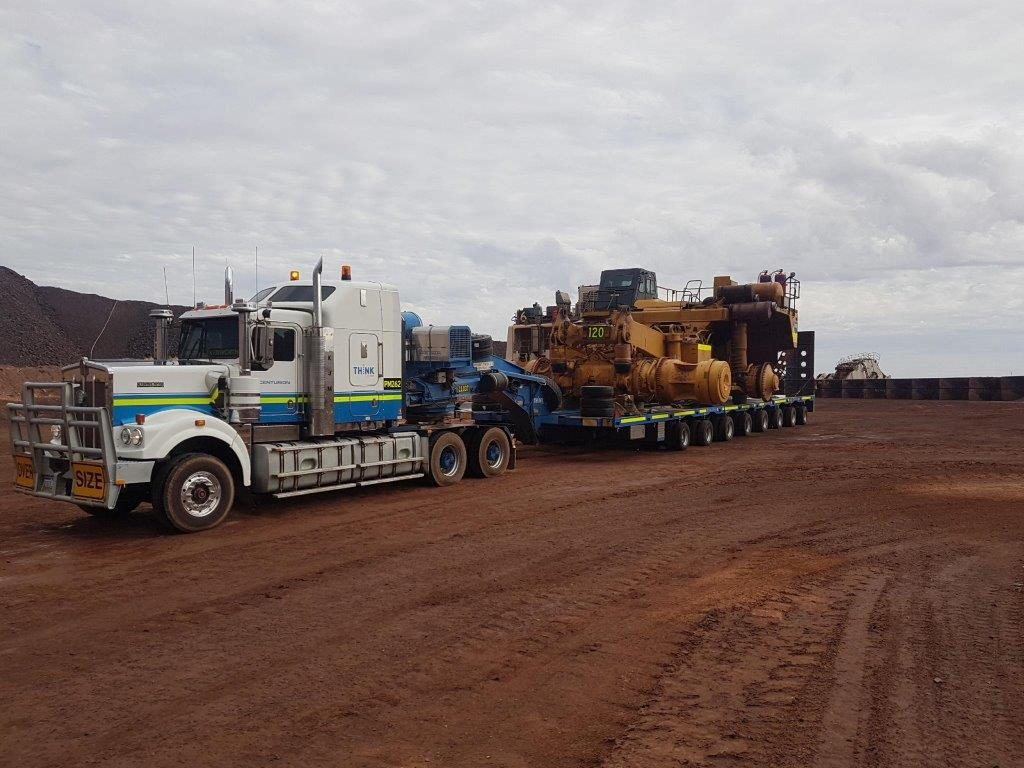 Centurion's Queensland and South Australia heavy haulage teams have just completed a massive heavy haulage contract as part of a major demobilisation from OzMinerals Prominent Hill mine in South Australia.