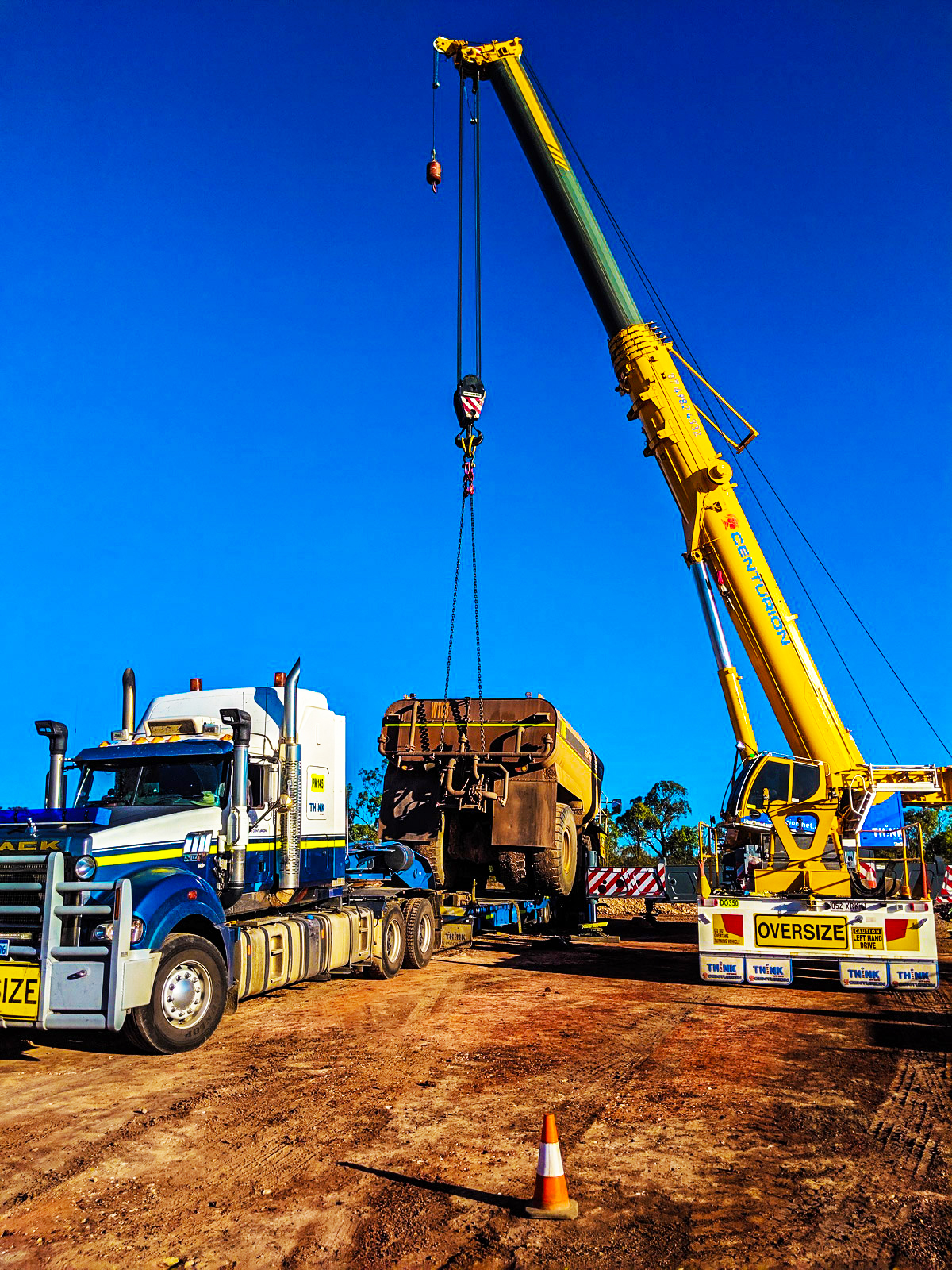 Centurion combines Crane Services and Heavy Haulage capabilities throughout Queensland